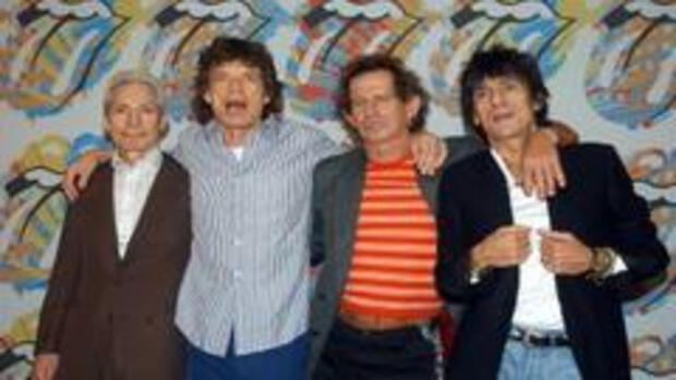 Die Rolling Stones: Charly Watts (v.l.), Mike Jagger, Keith Richards und Ron Wood