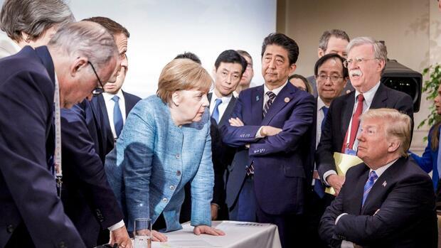 Berühmtes Foto vom G7: Trump kontert mit eigener Bildauswahl
