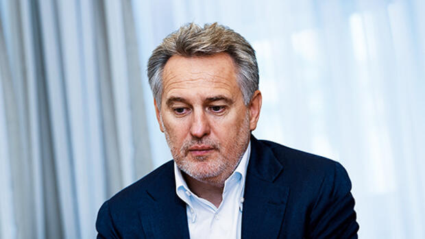 Der ukrainische Oligarch Dmitro Firtasch im Interview Quelle: dpa Picture-Alliance