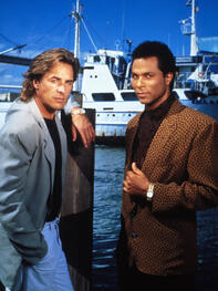 "Don Johnson und Philip Michael Thomas in der 80er-Serie ""Miami Vice"" Quelle: dpa"