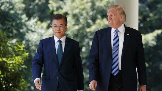 Moon Jae-in und Donald Trump beraten über Nordkorea-Politik