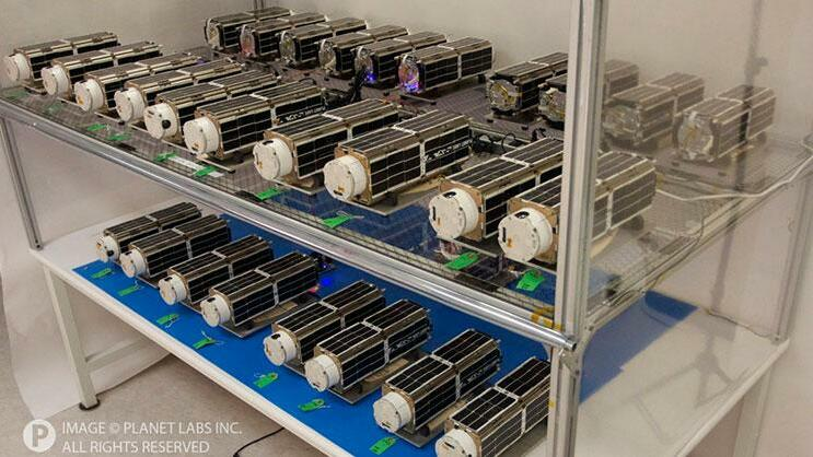 Mini-Satelliten des Startups Planet Labs Quelle: Planet Labs Inc.