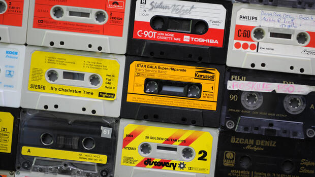 Die Musikkassette Quelle: dpa/picture-alliance