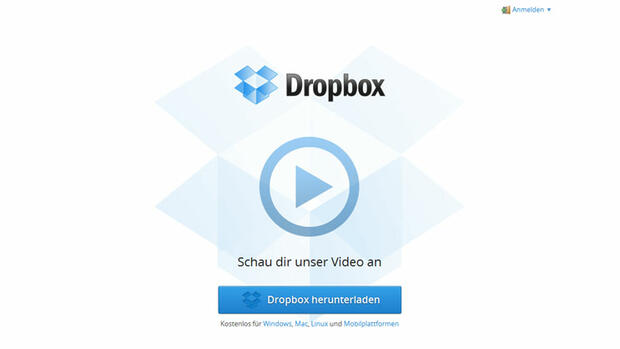 Dropbox Quelle: Screenshot