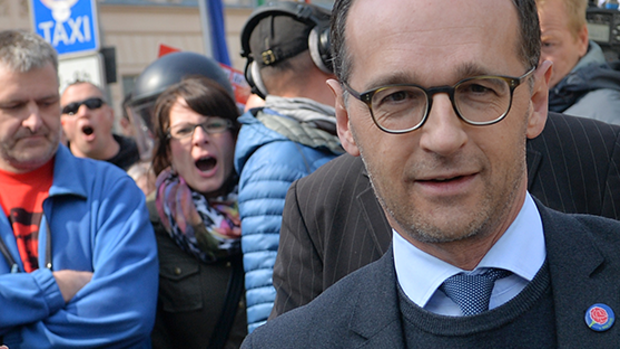 Heiko Maas in Zwickau Quelle: dpa Picture-Alliance
