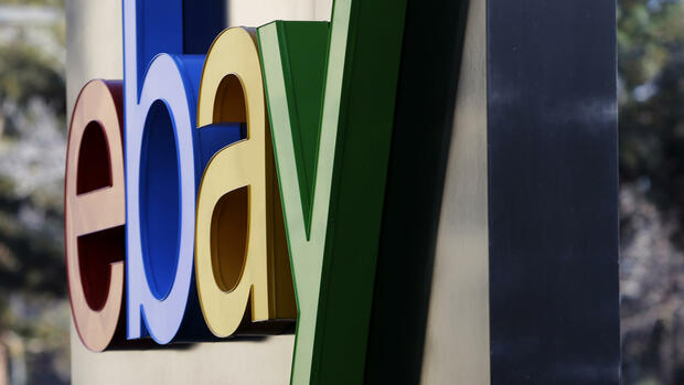 Ebay-Logo am Hauptquartier des Konzerns in San Jose. Quelle: AP