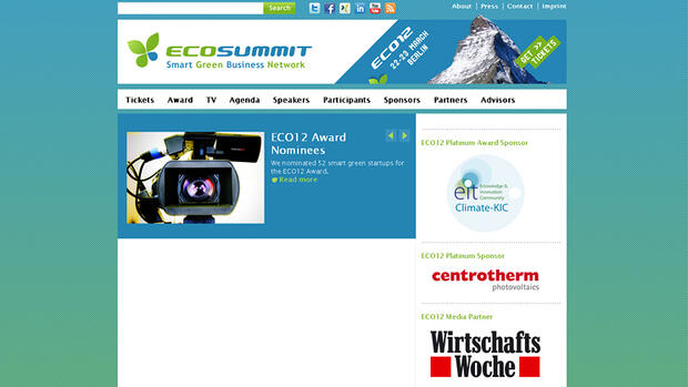 Screenshot Ecosummit Quelle: Screenshot