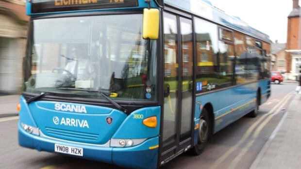 Ein Arriva-Bus in Tamworth, Quelle: dpa