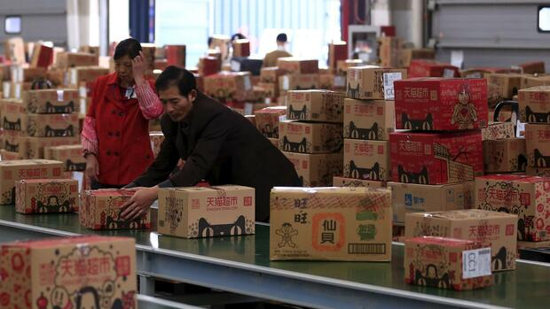 Paketflut am Singles' Day in China Quelle: REUTERS