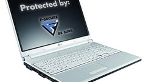 F-Secure Internet Security 2009 Software mit LG-Notebook