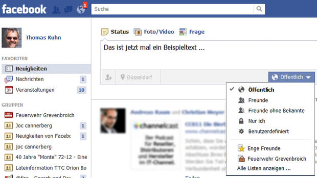 Facebook - Posting Quelle: Screenshot