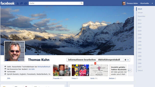 Facebook - Startseite Quelle: Screenshot