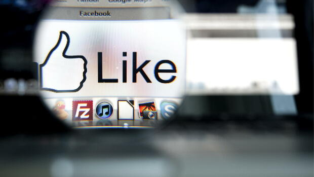 Der Like-Button auf Facebook Quelle: dapd