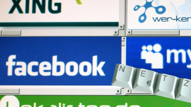 Facebook, Xing & Co. Quelle: dpa