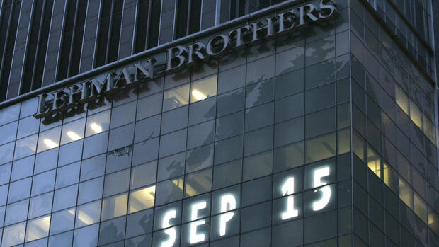 Lehman-Brothers-Zentrale am 15. September 2008. Quelle: AP