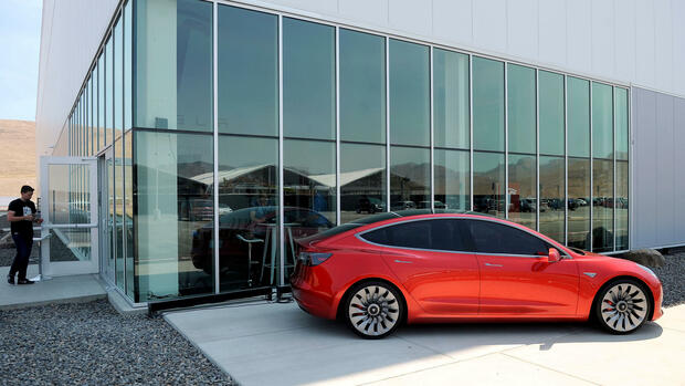 Ein Prototyp des Model 3 Quelle: REUTERS