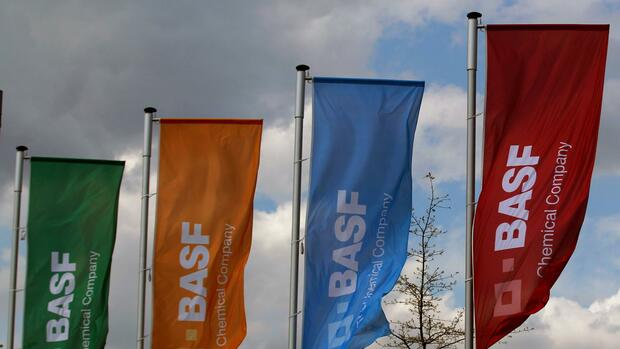 Flaggen von BASF in Monheim. Quelle: REUTERS