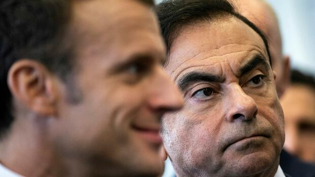 Emmanuel Macron und Renault-CEO Carlos Ghosn Quelle: REUTERS