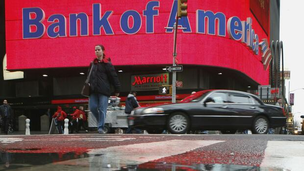 Bank of America in New York Quelle: REUTERS