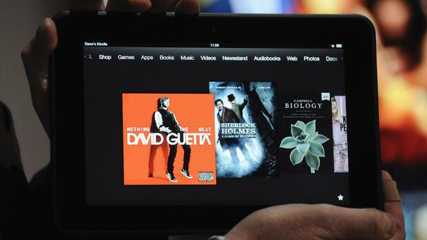 Ein Amazon Kindle Fire HD Quelle: REUTERS