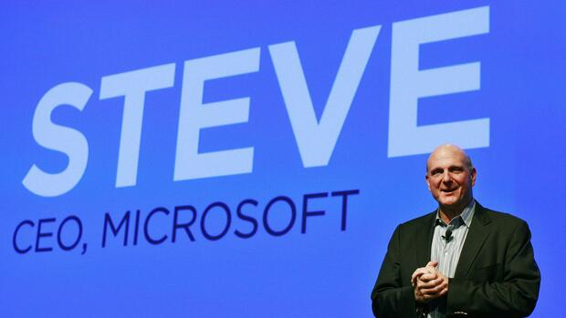 Steve Ballmer bei einer Präsentation in New York. Quelle: Reuters