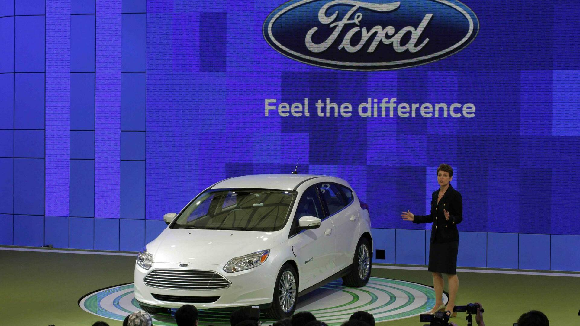 The new Ford Focus is displayed during the opening of the Shanghai Auto Show Quelle: REUTERS