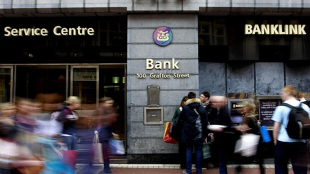 Filiale der Allied Irish Bank Quelle: dapd