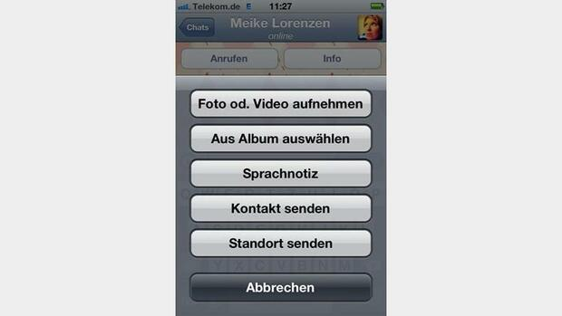 Whatsapp-Screenshot Quelle: Screenshot