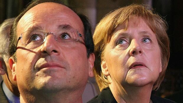 France's President Francois Hollande (L) and Germany's Chancellor Angela Merkel Quelle: REUTERS
