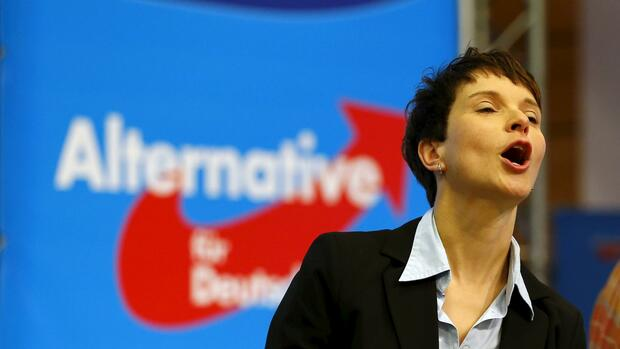 AfD-Chefin Frauke Petry. Quelle: REUTERS