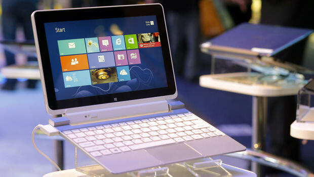 Acer-Tablet mit Windows 8 und Tastatur Quelle: dapd