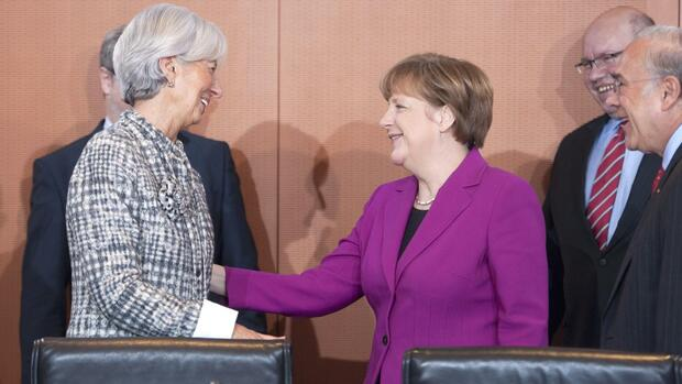 Angela Merkel und Christine Lagarde Quelle: REUTERS