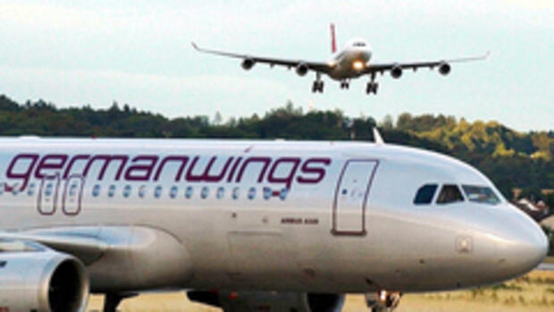 Germanwings-Flugzeug Quelle: AP