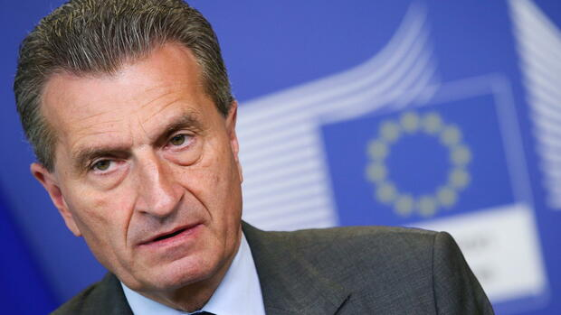 Guenther Oettinger Quelle: dpa