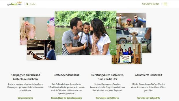 Gofundme startet in Deutschland Quelle: Screenshot Gofundme.com