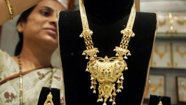 Goldschmuck in Mumbai, Indien: Quelle: REUTERS