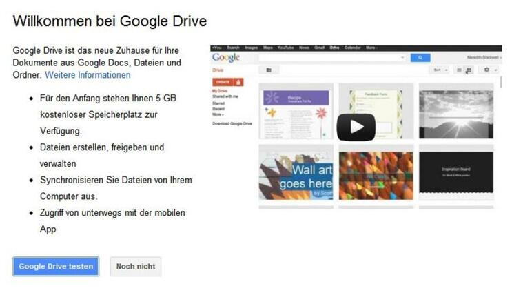 Google Drive Quelle: Screenshot