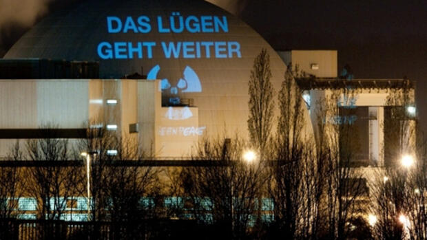 Greenpeace-Aktion in Quelle: dpa