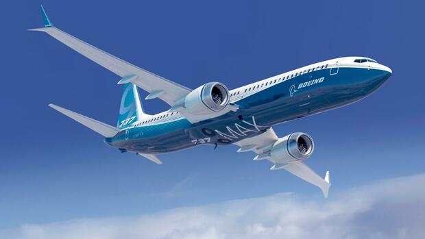 A Boeing 737 MAX airplane is pictured in this undated handout photo Quelle: REUTERS