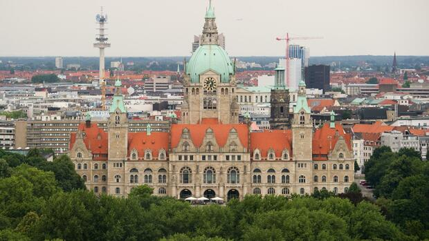 Neues Rathaus in Hannover Quelle: dpa