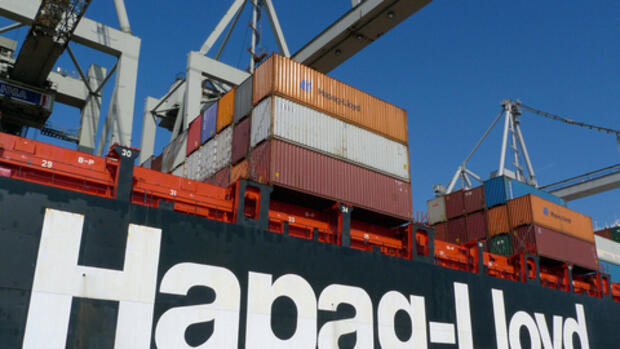 Hapag-Lloyd-Containerschiff Quelle: dpa