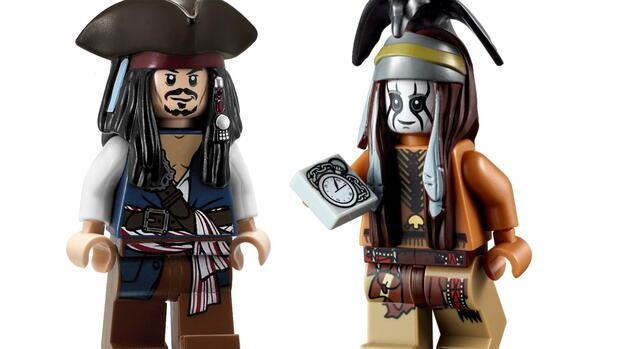 Die Filmfiguren Captain Jack Sparrow aus