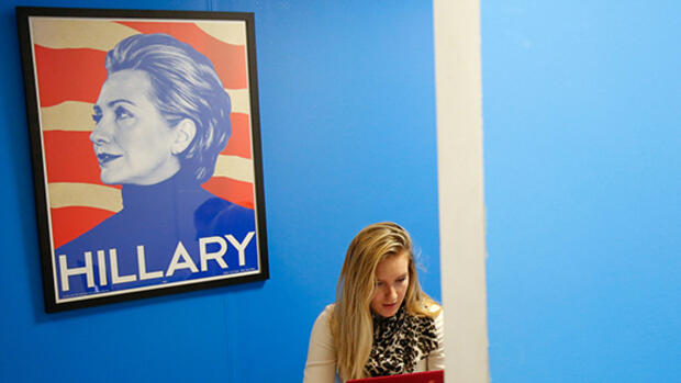 Hillary for President Quelle: dpa Picture-Alliance