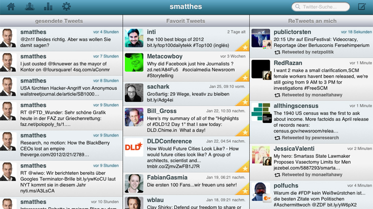Screenshot der App Hootsuite Quelle: Screenshot