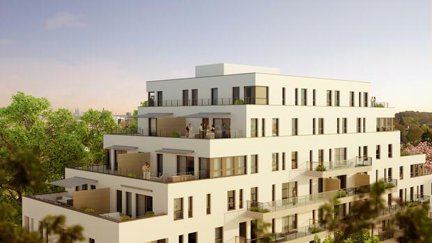 immobilien modernes wohnen im ehemaligen b rohaus. Black Bedroom Furniture Sets. Home Design Ideas