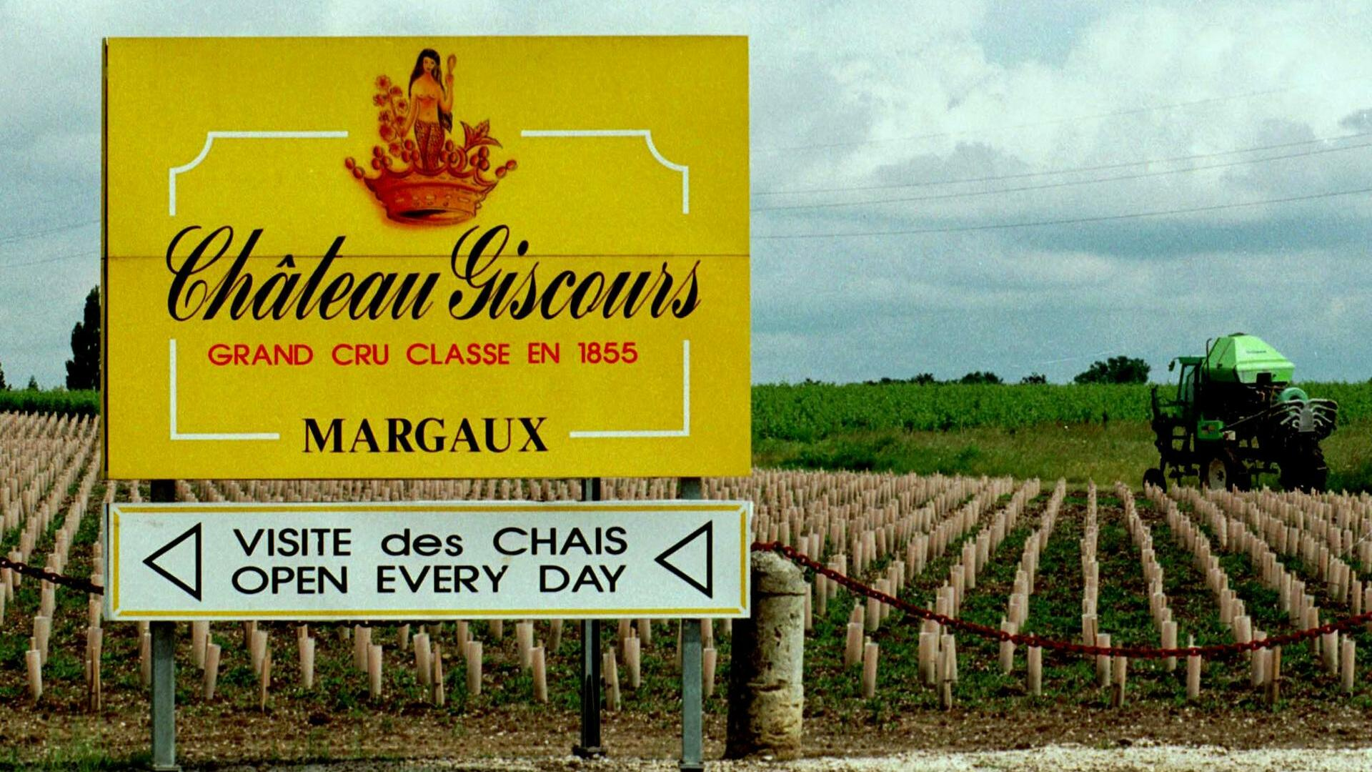 Outside view of Chateau-Giscours vineyards and main entrance,near Bordeaux, in southern France Quelle: AP