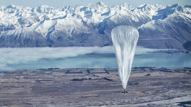 "Ballon in der Stratosphäre, Googles ""Project Loon"" Quelle: AP"