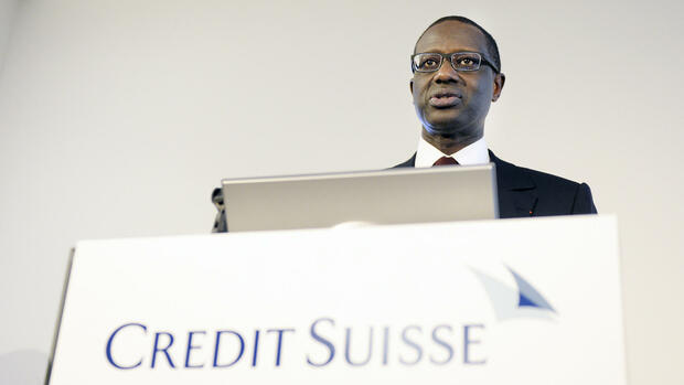 Credit-Suisse-Chef Tidjane Thiam Quelle: AP