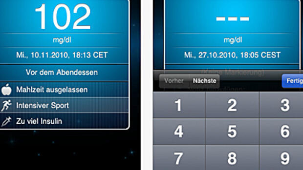 iBGStar (iPhone) Quelle: http://itunes.apple.com/de/app/ibgstar-diabetes-manager-mg/id407601840?mt=8