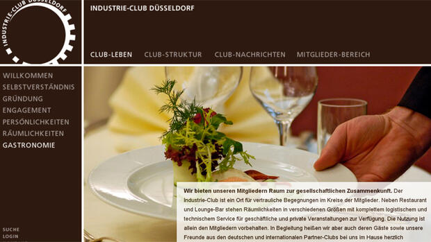 Industrie-Club Düsseldorf Quelle: Screenshot